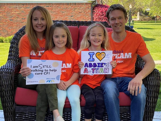 Abbie Volmar with her family
