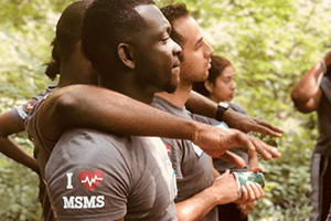 MSMS program students standing together