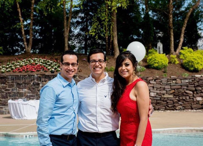 Alabd with his older brother, Andrew Alabd, MD, and sister-in law, Dina Attalla