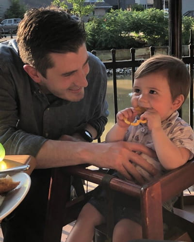 Dr. Brian O'Neill, EM/Peds physician resident, with his son Conner