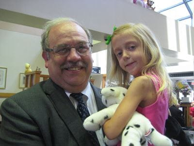 Dr. Clapp and Emily in Fall 2012