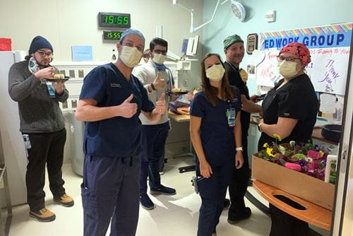 Eskenazi Emergency Department shows gratitude after a meal delivery