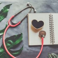 Stethoscope and heart image
