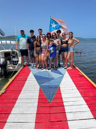 Doriann Alcaide with family in Puerto Rico