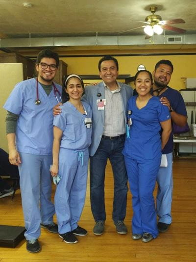 Bolivar in clinic with Dr. Sevilla