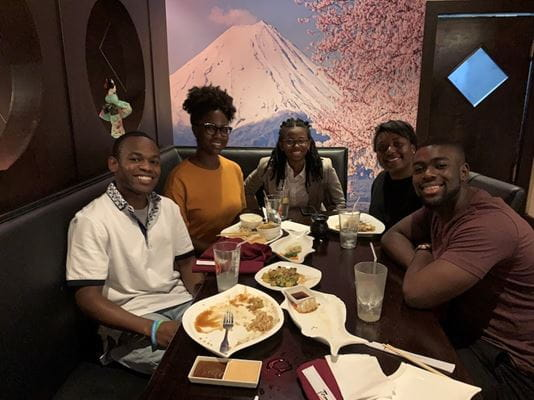 Physician mentor Davoy Murray with mentees