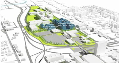 Planned Academic Health Center in Indianapolis