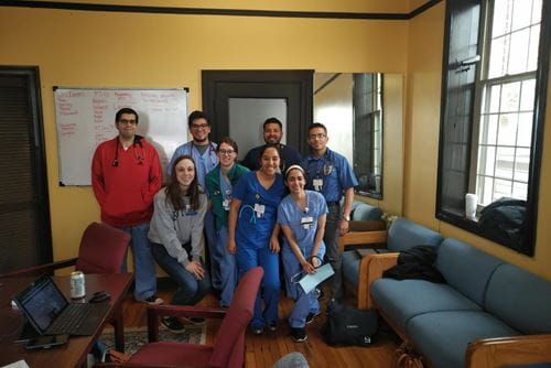 MD students at the community health clinic
