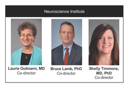 Neuroscience Institute leaders