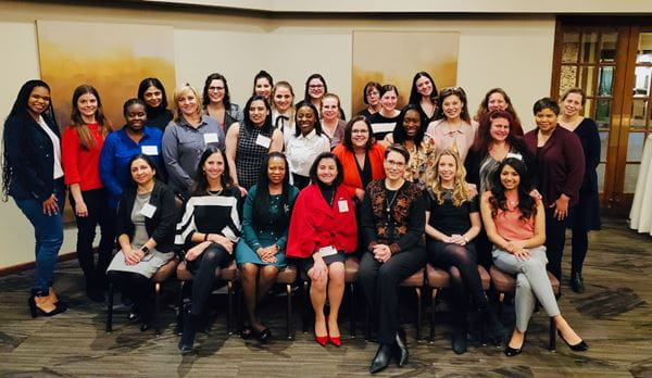 Northwest campus faculty and students at an AMWA conference