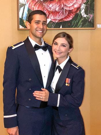 Carlos and Sarina in Air Force officer training