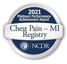 Platinum Chest Pain MI Registry Award