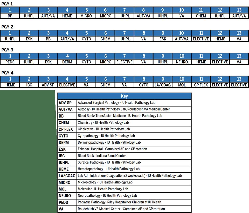 Pathology Sample Resident Schedule