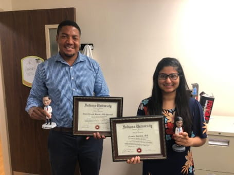 Dr. Hinton and Dr. Agrawal RadOnc Resident 2020 Grads