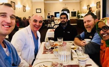 Radiology Faculty out to lunch