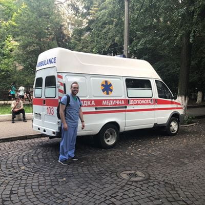 Dr. Taylor on a mission trip