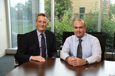 Portrait of Bruce Lamb and Alan Palkowitz